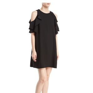black kate spade cold shoulder dress sz m
